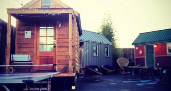 three tiny houses in Portland, Oregon