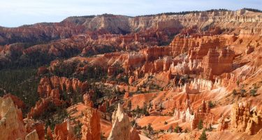 ribbons of color along the cliffsides of Bryce Canyon National Park