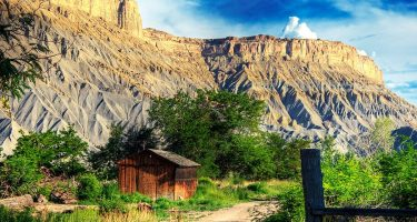 nature and the history of man collide in southern utah